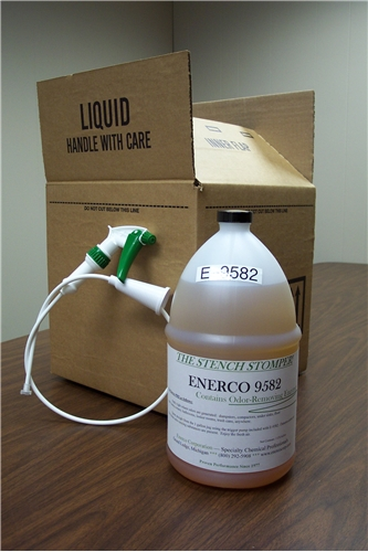 A gallon of an Enerco Cleaner fresh out of the box.